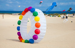 FUERTEVENTURA, SPAIN, NOVEMBER 08 2014, Kite Festival Royalty Free Stock Photos