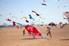 FUERTEVENTURA, SPAIN, NOVEMBER 08 2014, Kite Festival Stock Images