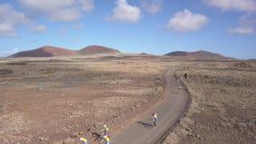 Fuerteventura Spain:2018-10-27, XX edition Fudenas 2018 mountain bike competitio. N stock video