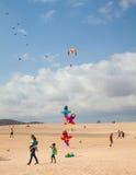 FUERTEVENTURA, SPANIEN am 8. November 2014 Drachen-Festival Lizenzfreie Stockfotos