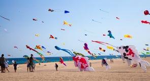 FUERTEVENTURA, SPANIEN am 8. November 2014 Drachen-Festival Lizenzfreie Stockbilder