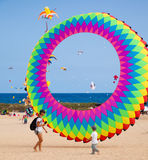 FUERTEVENTURA, SPANJE, 08 NOVEMBER 2014, Vliegerfestival Stock Fotografie