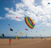 FUERTEVENTURA, SPANJE, 08 NOVEMBER 2014, Vliegerfestival Royalty-vrije Stock Foto's