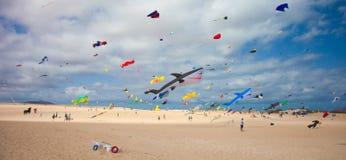FUERTEVENTURA, SPANJE, 08 NOVEMBER 2014, Vliegerfestival Stock Foto