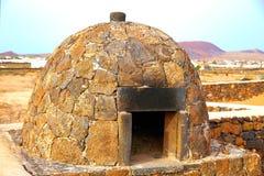 Fuerteventura stone oven Canary Islands Stock Photos