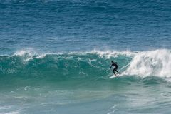 In Fuerteventura surfen, Kanarische Inseln Lizenzfreies Stockfoto