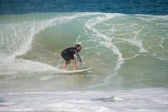 Fuerteventura - 2017 04 10: surfingowiec podczas zimy stażowych sess Zdjęcia Stock