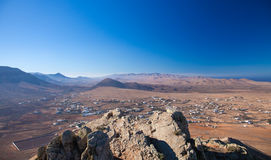 Fuerteventura Tindaya Arkivbilder