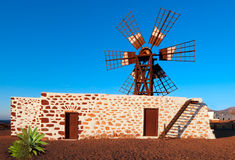 Fuerteventura, traditional windmill Stock Image