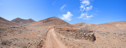 Fuerteventura - Trail from Tiscamanita to Toto Stock Photography