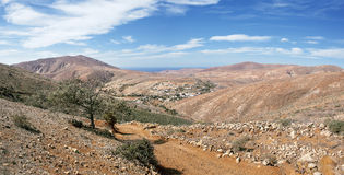 Fuerteventura - Valley of Betancuria Royalty Free Stock Photography