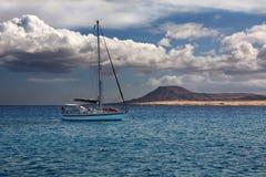 Fuerteventura van boot wordt gezien die Royalty-vrije Stock Afbeelding