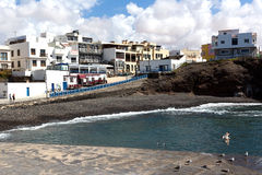 Fuerteventura - View of El Cotillo small fishing village, Canary Islands. Situated on the northwest corner of Fuerteventura whith fantastic beaches and lagoons royalty free stock photo