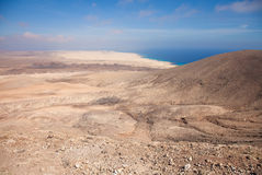 Fuerteventura, view north from Montana Roja Royalty Free Stock Images