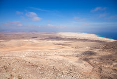 Fuerteventura, view north from Montana Roja Royalty Free Stock Photo