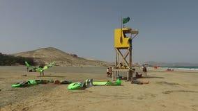 Fuerteventura: view of Playa de Sotavento stock video