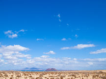 Fuerteventura, view towards Isla de Lobos Stock Photo