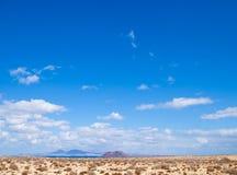 Fuerteventura, view towards Isla de Lobos Stock Photo