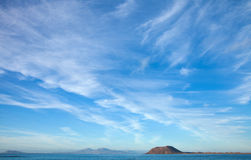 Fuerteventura, view towards Isla de Lobos Royalty Free Stock Photography