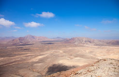 Fuerteventura, vista ad ovest da Montana Roja Fotografia Stock Libera da Diritti