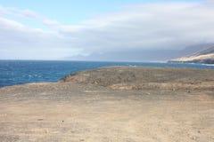 Fuerteventura vista del ` s dell'oceano Fotografie Stock Libere da Diritti