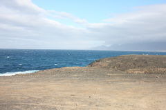 Fuerteventura Vista della costa di sud-ovest Immagini Stock Libere da Diritti