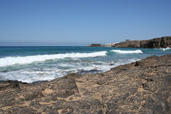 Fuerteventura Volcanic Coast Royalty Free Stock Photo