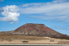 Fuerteventura volcano Stock Photography
