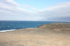 Fuerteventura Vue de côte de sud-ouest Images libres de droits
