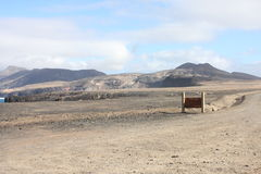 Fuerteventura Vue du ` s de montagnes Photographie stock libre de droits