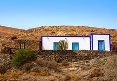 Fuerteventura white house at Canary Islands Royalty Free Stock Images