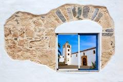 Fuerteventura a white window photomount Royalty Free Stock Photos
