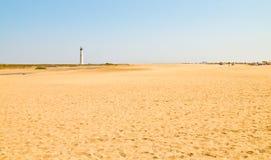 Fuerteventura. Wide Morro Jable beach Royalty Free Stock Photo