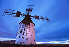 Fuerteventura, windmill Stock Photos