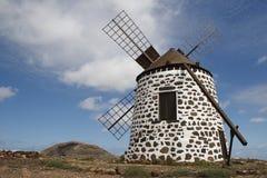 fuerteventura windmill Arkivbild