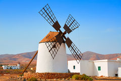 Fuerteventura windmill in Llanos de la Concepcion Royalty Free Stock Photography