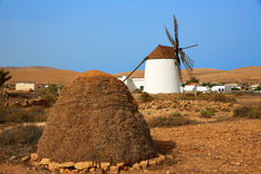 Fuerteventura windmill in Llanos de la Concepcion Stock Photo