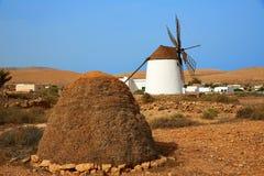 Fuerteventura windmill in Llanos de la Concepcion Stock Photo