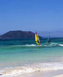 Fuerteventura windsurfing Stock Photos