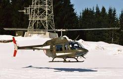 Fuerza aérea austríaca Agusta Bell Jet Ranger 3C-JM Fotos de archivo libres de regalías