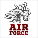 Fuerza aérea de los E.E.U.U. - los militares diseñan Vector Foto de archivo