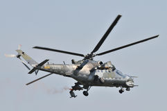 Fuerza aérea de Mi-35 Checo imagenes de archivo