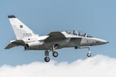 Fuerza aérea del polaco de Aermacchi MB346 MT55225 Fotografía de archivo