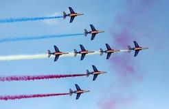 Fuerza aérea francesa en la demostración de aire de Le Bourget 2009 Fotos de archivo libres de regalías