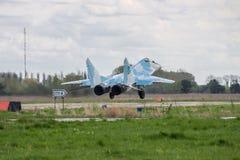 Fuerza aérea MiG-29 de Ucrania Fotos de archivo