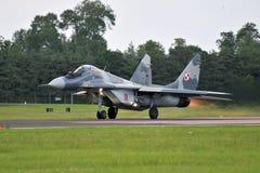 Fuerza aérea polaca Mig-29 Imágenes de archivo libres de regalías