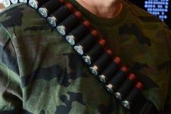 Fuerza armada de arma de la escopeta Imágenes de archivo libres de regalías