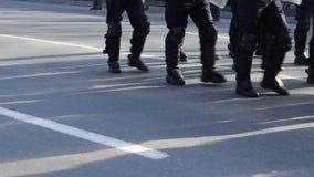 Fuerza de policía acorazada almacen de video