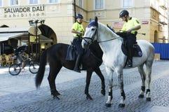 Fuerza de policía turística de Praga Foto de archivo libre de regalías