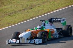 Fuerza la India F1, Adrian Sutil, 2011 de las personas Foto de archivo libre de regalías